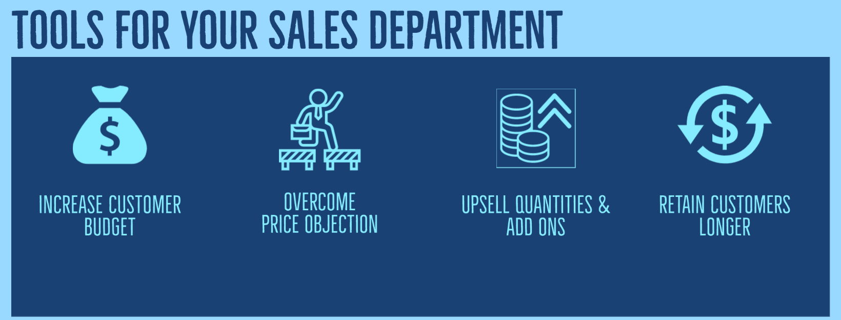 TOOLS FOR SALES DEPARTMENT