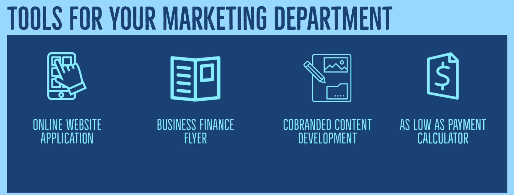 TOOLS FOR YOUR MARKETING DEPARTMENT