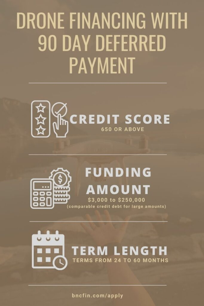 90 Day Deferred Payments Drone Financing